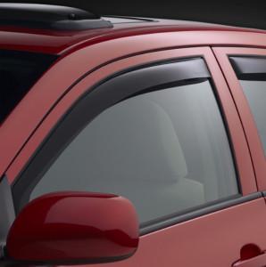 Toyota Corolla 2003-2008 - Дефлекторы окон (ветровики), передние, темые. (WeatherTech)                   фото, цена