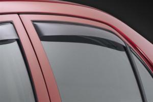 Toyota Corolla 2003-2008 - Дефлекторы окон (ветровики), задние, темные. (WeatherTech) фото, цена