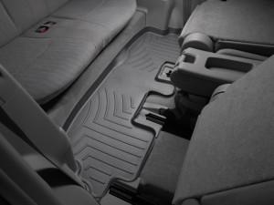 Toyota Highlander 2009-2013 - Коврики резиновые с бортиком, задние, 3 ряд, черные. (WeatherTech) фото, цена