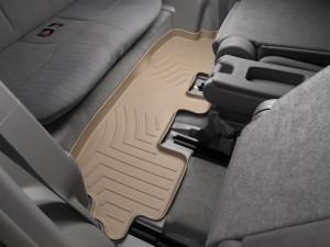 Toyota Highlander 2008-2013 - Коврики резиновые с бортиком, задние, 3 ряд, бежевые. (WeatherTech) фото, цена