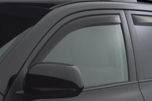 Toyota Highlander 2008-2013 - Дефлекторы окон (ветровики), передние, темные. (WeatherTech) фото, цена