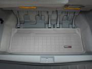 Toyota Sienna 2011-2014 - (3 ряда) Коврик резиновый в багажник, серый. (WeatherTech) фото, цена