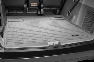 Toyota Sienna 2011-2014 - (2 ряда) Коврик резиновый в багажник, серый. (WeatherTech) фото, цена