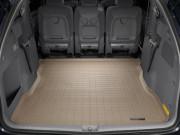 Toyota Sienna 2004-2010 - (2 ряда) Коврик резиновый в багажник, бежевый. (WeatherTech) фото, цена