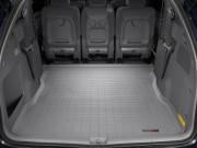 Toyota Sienna 2004-2010 - (2 ряда) Коврик резиновый в багажник, серый. (WeatherTech) фото, цена