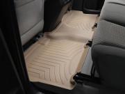Toyota Tundra 2007-2013 - (CrewMax) Коврики резиновые с бортиком, задние, бежевые. (WeatherTech) фото, цена