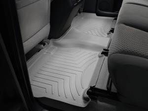 Toyota Tundra 2007-2013 - (CrewMax) Коврики резиновые с бортиком, задние, серые. (WeatherTech) фото, цена