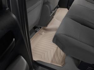 Toyota Tundra 2007-2013 - (Double Cab) Коврики резиновые с бортиком, задние, бежевые. (WeatherTech) фото, цена