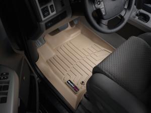 Toyota Tundra 2007-2011 - Коврики резиновые с бортиком, передние, бежевые. (WeatherTech) фото, цена