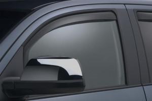 Toyota Tundra 2007-2016 - (Double Cab и CrewMax) Дефлекторы окон (ветровики), передние, темные. (WeatherTech) фото, цена