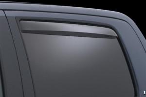 Toyota Tundra 2007-2016 - (CrewMax) Дефлекторы окон (ветровики), задние, светлые. (WeatherTech) фото, цена