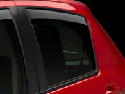 Toyota Yaris 2012-2014 - Дефлекторы окон (ветровики), задние, темные. (WeatherTech) фото, цена