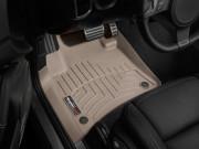 Volkswagen Touareg 2011-2017 - Коврики резиновые с бортиком, передние, бежевые. (WeatherTech) фото, цена