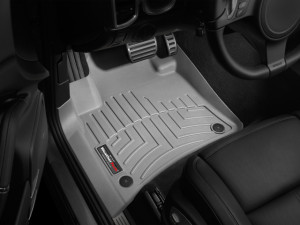 Volkswagen Touareg 2011-2017 - Коврики резиновые с бортиком, передние, серые. (WeatherTech) фото, цена