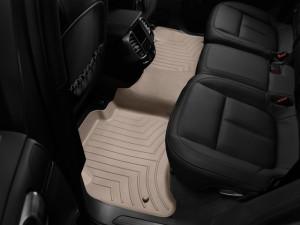 Volkswagen Touareg 2011-2017 - Коврики резиновые с бортиком, задние, бежевые. (WeatherTech) фото, цена