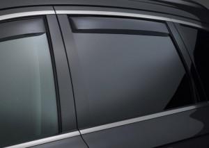 Volkswagen Touareg 2011-2014 - Дефлекторы окон (ветровики), задние, темные. (WeatherTech) фото, цена