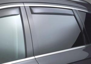 Volkswagen Touareg 2011-2014 - Дефлекторы окон (ветровики), задние, светлые. (WeatherTech) фото, цена