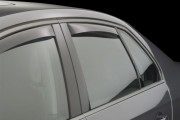 Volkswagen Jetta 2005-2010 - Дефлекторы окон (ветровики), задние, темные. (WeatherTech) фото, цена