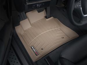 BMW X5 2007-2013 - Коврики резиновые с бортиком, передние, бежевые. (WeatherTech) фото, цена
