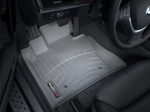 BMW X5 2007-2013 - Коврики резиновые с бортиком, передние, серые. (WeatherTech) фото, цена