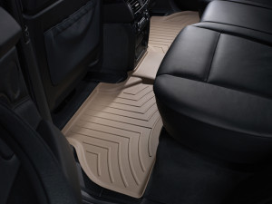 BMW X5 2007-2013 - Коврики резиновые с бортиком, задние, бежевые. (WeatherTech) фото, цена