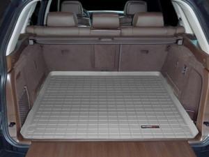 BMW X5 2007-2013 - (5 мест) Коврик резиновый в багажник, серый. (WeatherTech) фото, цена