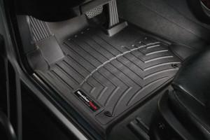 BMW X5 1999-2006 - Коврики резиновые с бортиком, передние, черные. (WeatherTech) фото, цена