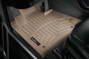 BMW X5 1999-2006 - Коврики резиновые с бортиком, передние, бежевые. (WeatherTech) фото, цена