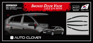 Chevrolet Cruze 2008-2013 - (HTB) Дефлекторы окон (ветровики), комлект. (Clover) фото, цена