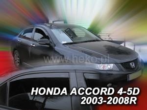Honda Accord 2003-2007 - COMBI Дефлекторы окон (ветровики), к-т 4 шт, вставные. HEKO-team фото, цена