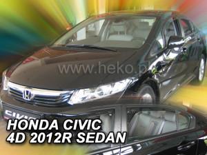 Honda Civic 2006-2011 - SEDAN Дефлекторы окон (ветровики), к-т 4 шт, вставные. HEKO-team фото, цена