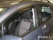 Mazda 5 2006-2012 - Дефлекторы окон (ветровики), передние, вставные. HEKO-team фото, цена