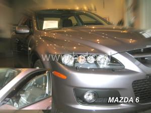 Mazda 6 2002-2008 - Дефлекторы окон (ветровики), передние, вставные. HEKO-team фото, цена