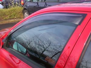 Hyundai Accent 2000-2005 - Дефлекторы окон (ветровики), передние, светлые. (EGR) фото, цена