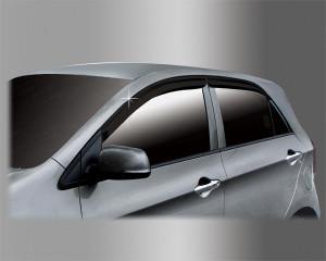 Kia Picanto 2011-2014 - Дефлекторы окон (ветровики), комплект. (Cobra Tuning) фото, цена