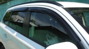 Mitsubishi Outlander 2012-2014 - Дефлекторы окон (ветровики), комлект. (EGR) фото, цена