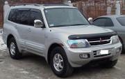 Mitsubishi Pajero 2000-2006 - Защита передних фар, прозрачная. (Airplex) фото, цена