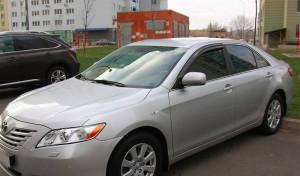 Toyota Camry 2007-2011 - Дефлекторы окон (ветровики), передние, темные. (EGR) фото, цена