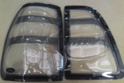 Toyota Land Cruiser 1998-2005 - Защита задних фонарей, прозрачная, с карбоновой окантовкой. (EGR) фото, цена