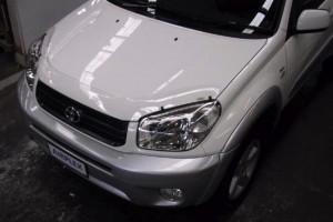 Toyota Rav 4 2003-2005 - Защита передних фар, прозрачная. (Airplex) фото, цена