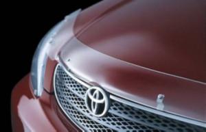 Toyota Camry 2001-2003 - Дефлектор капота (мухобойка), светлый. (EGR) фото, цена