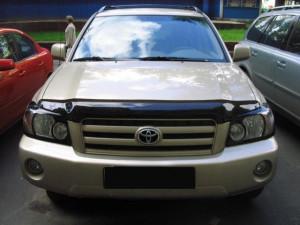 Toyota Highlander 1999-2001 - Дефлектор капота (мухобойка), темный. (EGR) фото, цена