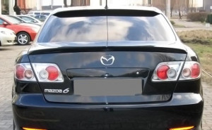 Mazda 6 2002-2007 - Спойлер на заднее стекло, под покраску (UA)  фото, цена