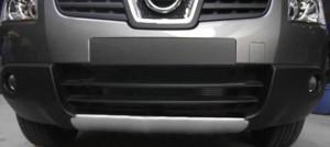 Nissan Qashqai 2007-2010 - Накладка переднего бампера, под покраску (TAW) фото, цена