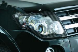 Mitsubishi Pajero 2007-2014 - Защита передних фар прозрачная. (EGR)  фото, цена
