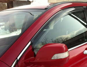 Hyundai Santa Fe 2012-2015 - Дефлекторы окон  передние, дымчатые,  к-т 2шт. (EGR) фото, цена