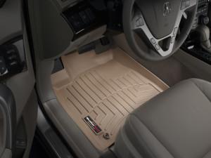 Acura MDX 2007-2013 - Коврики резиновые с бортиком, передние, бежевые. (WeatherTech) фото, цена