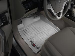 Acura MDX 2007-2013 - Коврики резиновые с бортиком, передние, серые. (WeatherTech) фото, цена