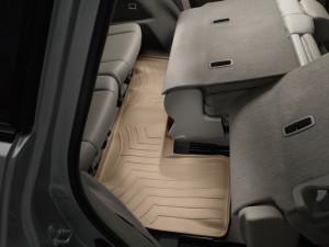 Acura MDX 2007-2013 - Коврики резиновые с бортиком, задние, 3 ряд сидений, бежевые. (Weathertech) фото, цена
