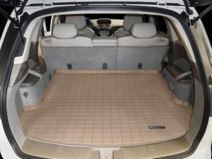 Acura MDX 2007-2013 - Коврик резиновый в багажник, 5 мест, бежевый. (WeatherTech) фото, цена